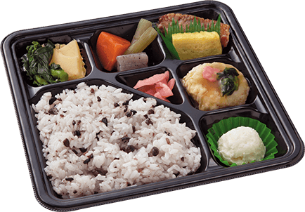 Bento with zakkoku rice