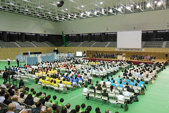 The 12th convention of the Alliance for Healthy Cities, Japan (2016 at the Kikkoman Arena)