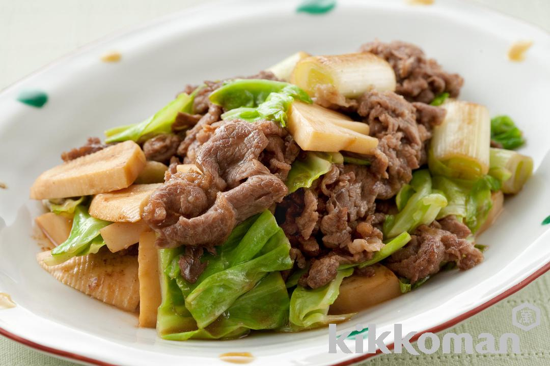 Photo: Beef, Mushroom and Cabbage Stir Fry
