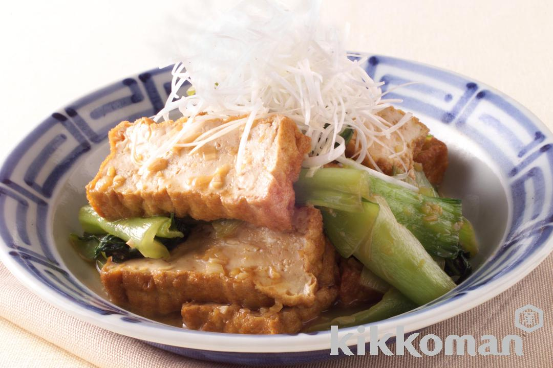 Spicy Fried Tofu and Bok Choy