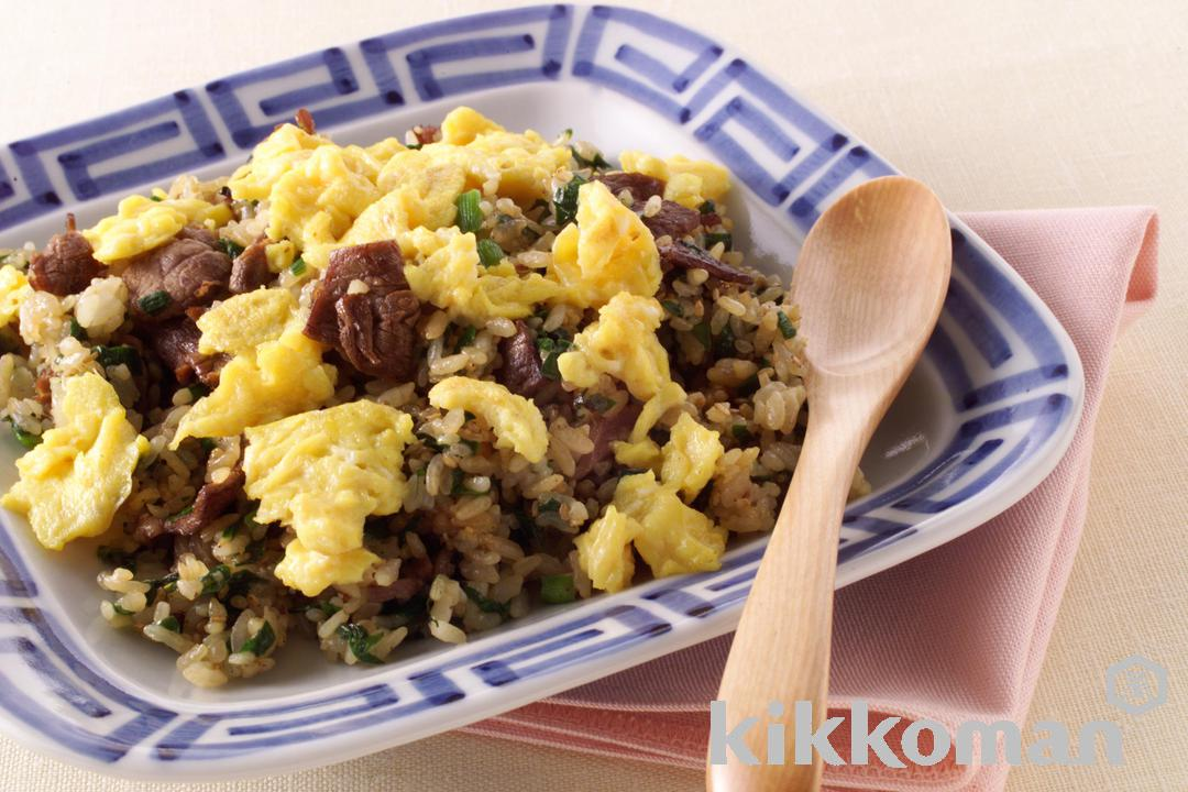 Beef and Garlic Chive Fried Rice