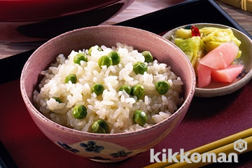 Photo: Fresh Green Peas with Rice (Mame Gohan)