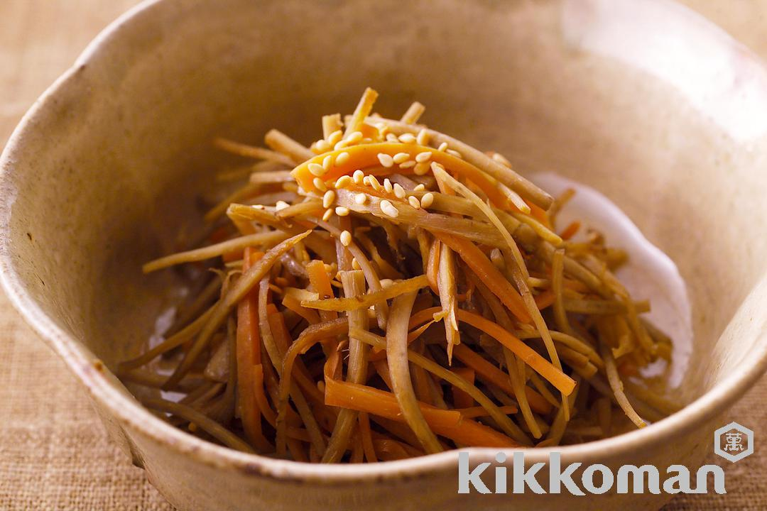 Simmered Carrot and Burdock Root (Kimpira)