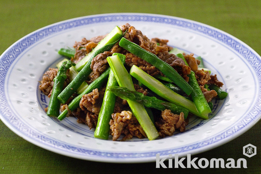 Beef, Asparagus and Green Bean Soy Sauce Stir-Fry