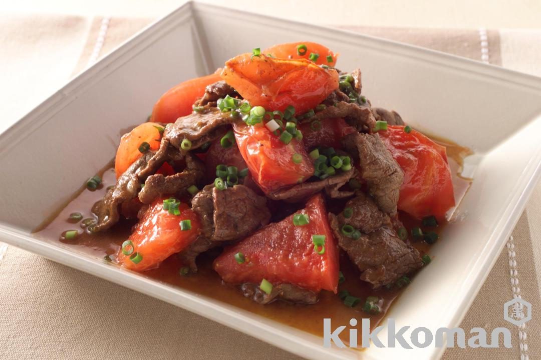 Soy Sauce-Seasoned Beef and Tomato Stir-fry