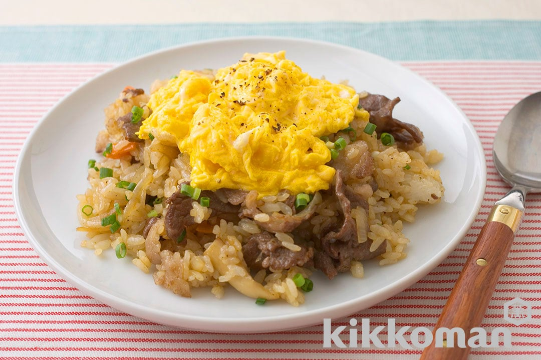 Beef and Rice Topped with Eggs
