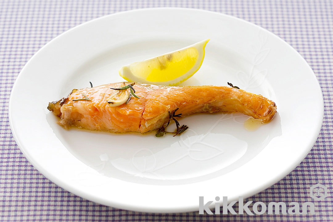 Herb-Flavored Grilled Salmon