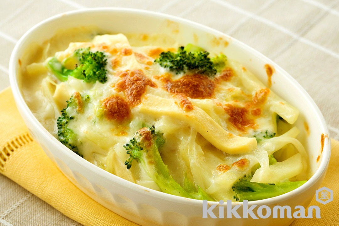 Soy Milk Gratin with Koya Tofu and Ham