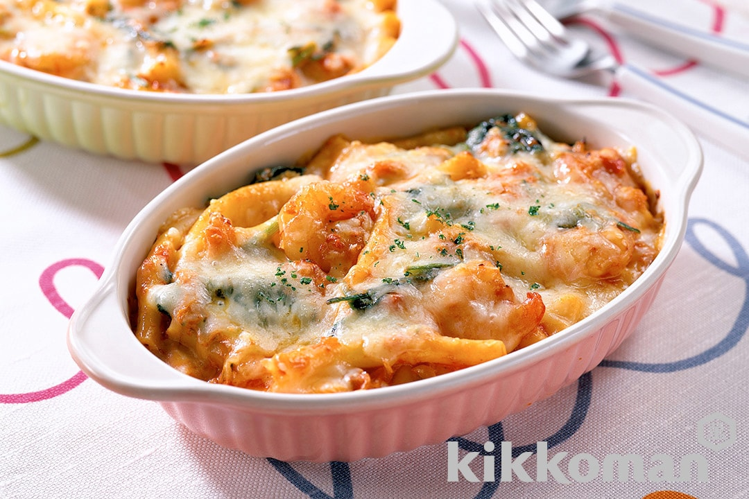 Creamy Au Gratin with Shrimp and Tomatoes