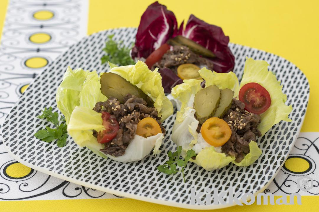 Photo: Teriyaki Beef Lettuce Rolls